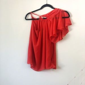 Bebe asymmetrical blouse